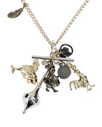Jil Sander Navy - Metallic Necklace - Lyst