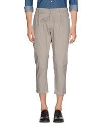 26.7 Twentysixseven - Gray Casual Trouser for Men - Lyst