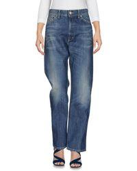 Dondup - Blue Denim Pants - Lyst