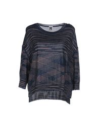M Missoni - Blue Sweater - Lyst