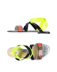 Moschino - Black Sandals - Lyst