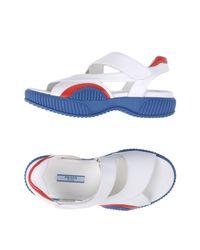 Prada - White Sandals - Lyst