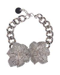 Alexander McQueen - Metallic Necklace - Lyst