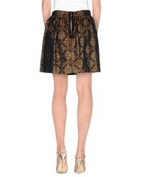 Shirtaporter - Gray Mini Skirts - Lyst