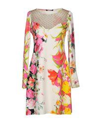 Blumarine White Short Dress