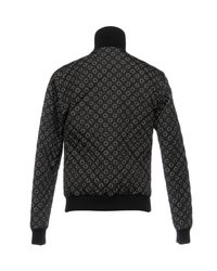 Dolce & Gabbana - Black Circle Print Quilted Jacket for Men - Lyst