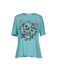 Wildfox - Blue T-shirt - Lyst