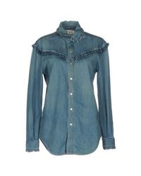 Saint Laurent - Blue Denim Shirt - Lyst