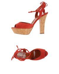 Sergio Rossi - Red Sandals - Lyst
