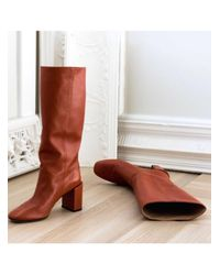Dear Frances - Red Bucket Boot - Lyst