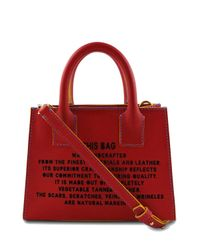 Marlow London - 'this Bag' Mini Tote In Red - Lyst