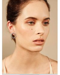 Maha Lozi - Gray Hula Hoop Earrings - Lyst