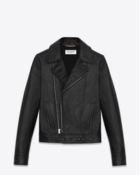 Saint Laurent | Motorcycle Slouch Jacket In Black Leather | Lyst