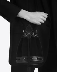 Saint Laurent - Small Anja Tassel Bucket Bag In Black - Lyst