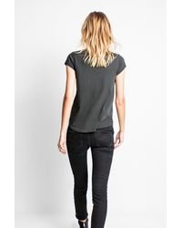 Zadig & Voltaire - Gray Tiny Overdyed T-shirt - Lyst