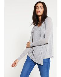Bench | Gray Enunciation Long Sleeved Top | Lyst