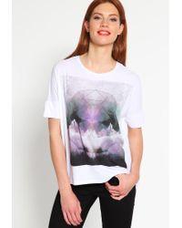 Bench | White Putonice Print T-shirt | Lyst