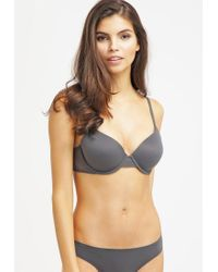 Calvin Klein | Gray Perfectly Fit With Lace T-shirt Bra | Lyst