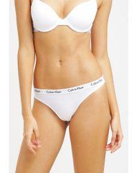 Calvin Klein | White Carousel Thong | Lyst