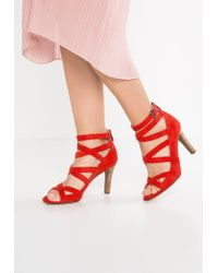 Franco Sarto | Red Quincey High Heeled Sandals | Lyst