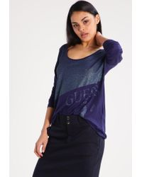 Guess | Blue Long Sleeved Top | Lyst