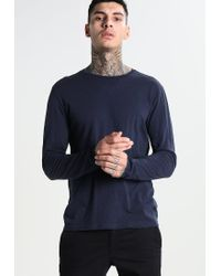 Knowledge Cotton Apparel | Blue Slope Long Sleeved Top for Men | Lyst