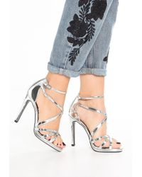New Look | Metallic Sabrina Sandals | Lyst