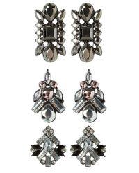 ONLY | Gray 3 Pack Onlcalie Earrings | Lyst