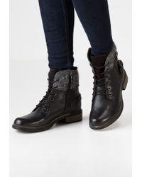 Tamaris | Black Lace-up Boots | Lyst