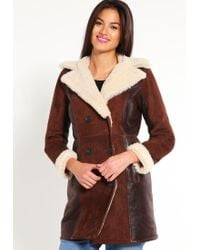 Tommy Hilfiger | Brown Giovanna Leather Jacket | Lyst