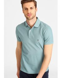 Tommy Hilfiger | Blue Performance Slim Fit Polo Shirt for Men | Lyst