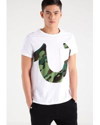 True Religion | White Horseshoe Ss Print T-shirt for Men | Lyst