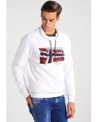 Napapijri | White Baddy Sweatshirt for Men | Lyst
