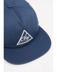 Obey | Blue New Federation Snapback Cap for Men | Lyst