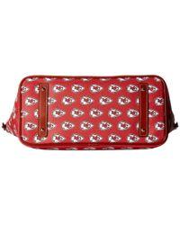 Dooney & Bourke - Multicolor Nfl Zip Top Shopper (new York Giants) Top-zip Handbags - Lyst