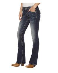 Miss Me - Blue Bootcut Jeans In Medium Dark - Lyst