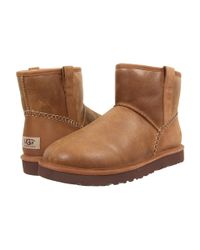 Ugg Brown Classic Mini Stitch (stout Leather) Men's Pull-on Boots for men