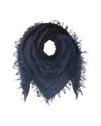 Chan Luu - Shadow Dye Cashmere And Silk Scarf (total Eclipse/black) Scarves - Lyst