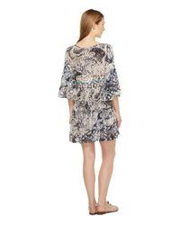 Brigitte Bailey | Blue Mahalia Printed V-neck Dress | Lyst