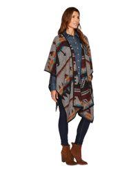 Stetson - Gray 1478 Color Aztec Wrap Cardigan - Lyst