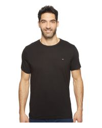 Tommy Hilfiger | Black Short Sleeve Core Flag V-neck Tee for Men | Lyst