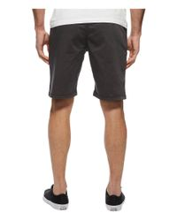 Lucky Brand - Black Stretch Sateen Flat Front Shorts for Men - Lyst