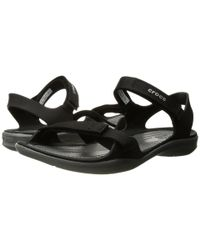 Crocs™ Black Swiftwater Webbing Sandal W Sandals