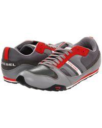 DIESEL - Gray Gunner - 12 (gunmetal) Men's Lace Up Casual Shoes for Men - Lyst
