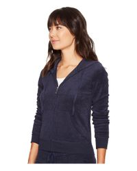 Juicy Couture | Blue Robertson Microterry Jacket | Lyst