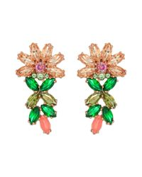 Kate Spade - Multicolor Flora Ear Pin Earrings - Lyst