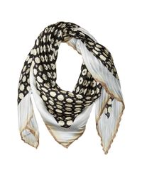 Vince Camuto | Black Military Dot Pleated Square Scarf | Lyst