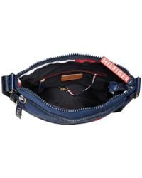 Tommy Hilfiger - Blue Nori Flag Large Nylon Crossbody - Lyst