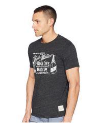 The Original Retro Brand - Streaky Tri-blend Vintage Miller High Life Short Sleeve Tee (streaky Black) Men's T Shirt for Men - Lyst