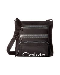 CALVIN KLEIN 205W39NYC - Black Nylon Crossbody - Lyst